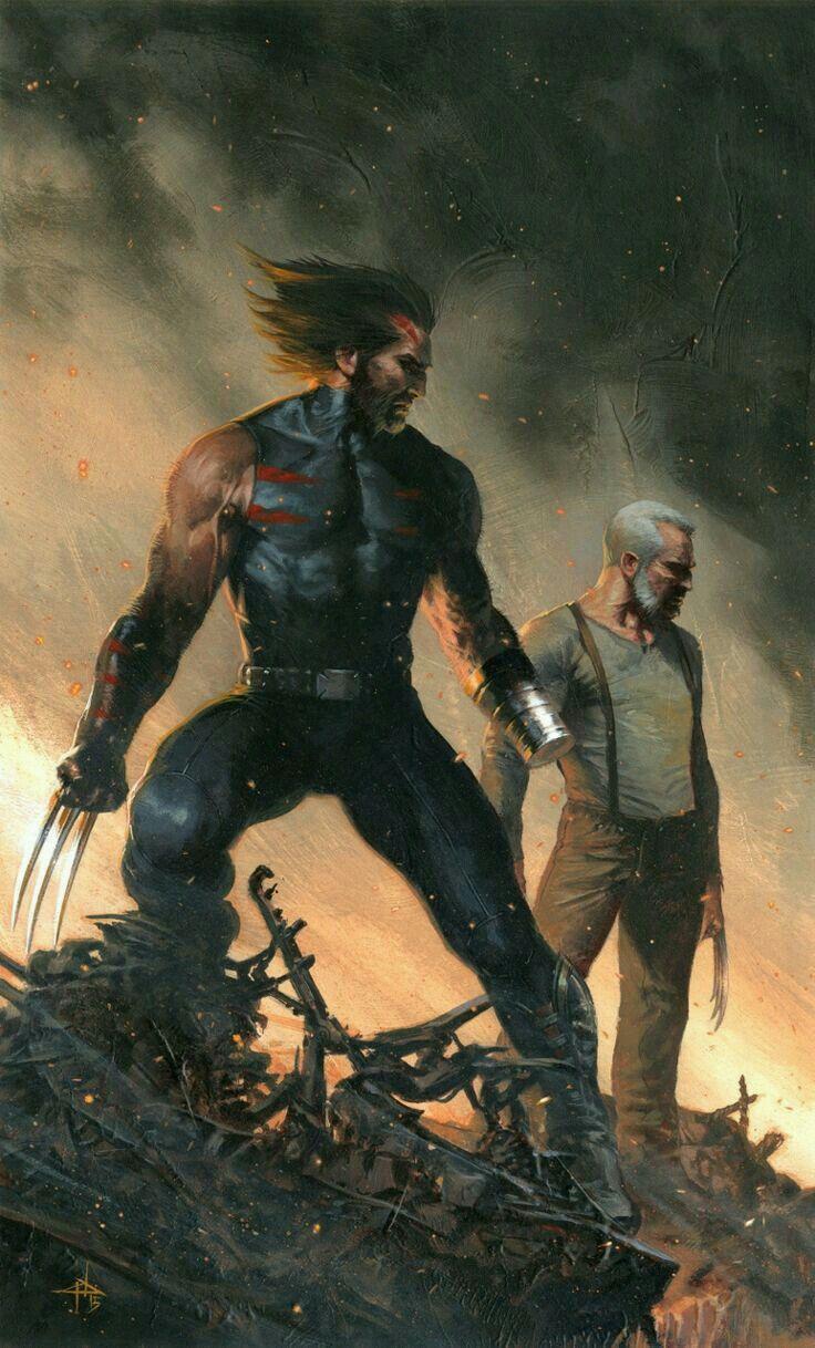 Age of apocalypse Wolverine & old man logan