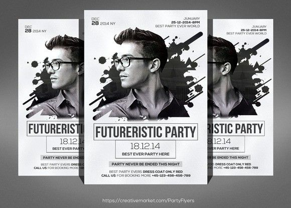 Best Dj Images On   Dj Flyer Template And Flyers