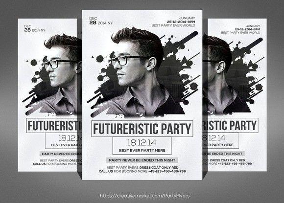 141 best DJ images on Pinterest Script fonts, Leaflet design and - club flyer maker
