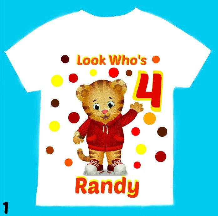 Daniel the tiger Personalized t-shirt 1st 2nd 3rd 4th 5th 6th Personalization is included at no additional cost. by FantasyKidsDesigns on Etsy https://www.etsy.com/listing/205249350/daniel-the-tiger-personalized-t-shirt