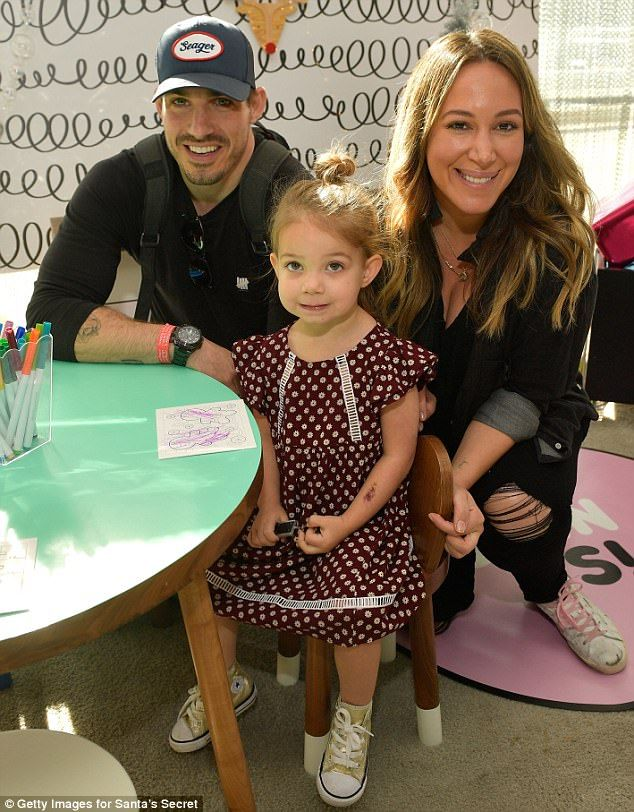 Otherwise engaged:Haylie Duff brought along fianceMatt Rosenberg and daughter Ryan