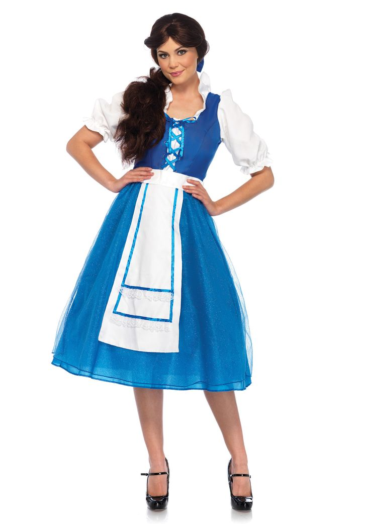 This costume is perfect for those who love Beauty and the Beast and want to be like Belle! This costume includes the dress with the apron skirt, and hair bow. Be sure to check the Stagecoach for wigs!