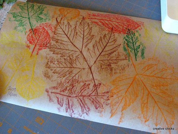 Fall crafts for kids: Autumn Leaf Rubbings #crafts I iVillage.ca