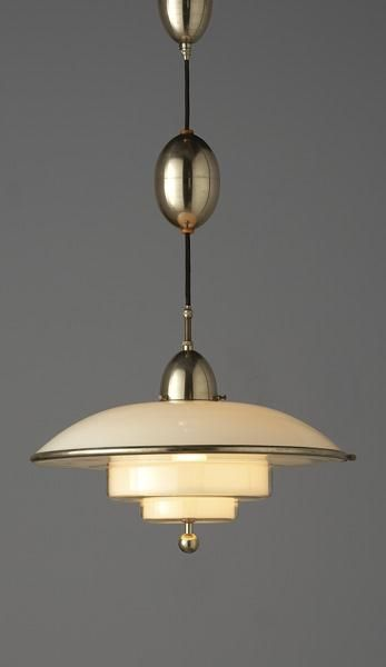 C.F. Otto Muller, Titan Ceiling Light for Sistrah-Licht GmbH, 1930s. Art Deco, Jugendstil, Secesija. Always follow one board. Thank You!