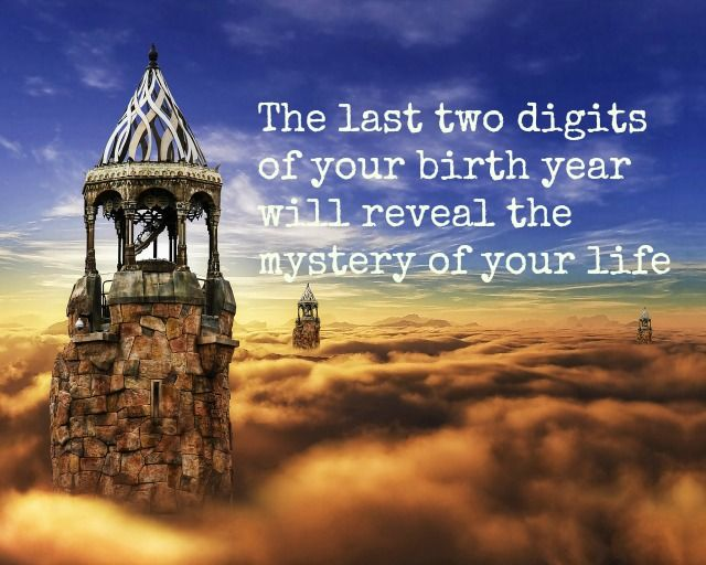 The last two digits of your birth year will reveal the mystery of your life