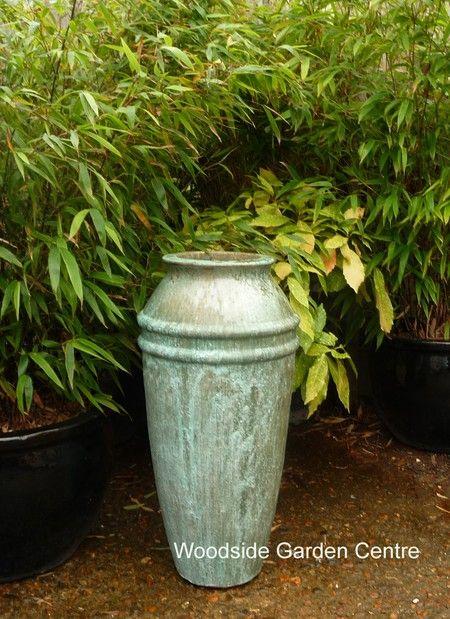 Large opal green samos vase woodside garden centre for Garden pots portland