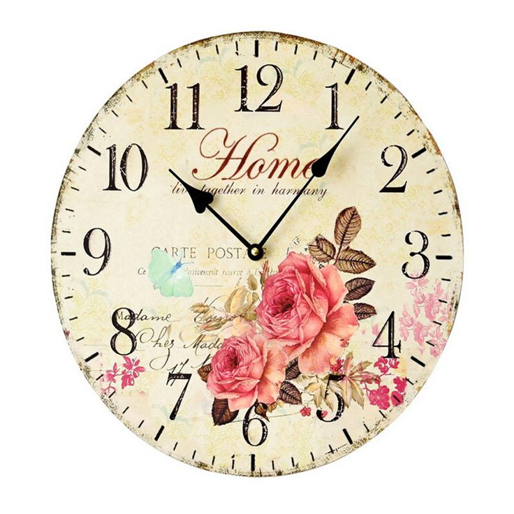 Family Live Together in Harmony Large Wall Clocks 35 CM Vintage Wall Clock Living Room Wall Watches Home Decor