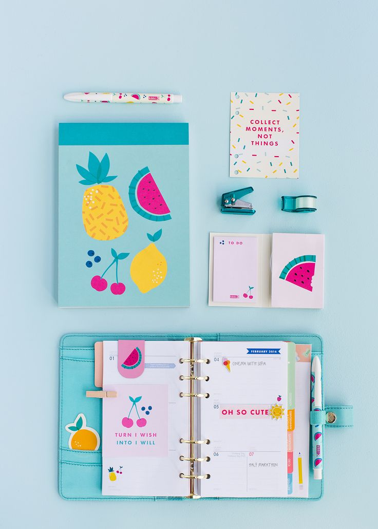 Make your stationery extra fun with the new kikki.K Cute Collection featuring Notebooks, Planners, Accessories and more, all in bright, fruity prints.