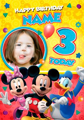 66 best mickey mouse cards gifts and ideas images on pinterest personalised mickey mouse clubhouse birthday card with photo upload bookmarktalkfo Choice Image