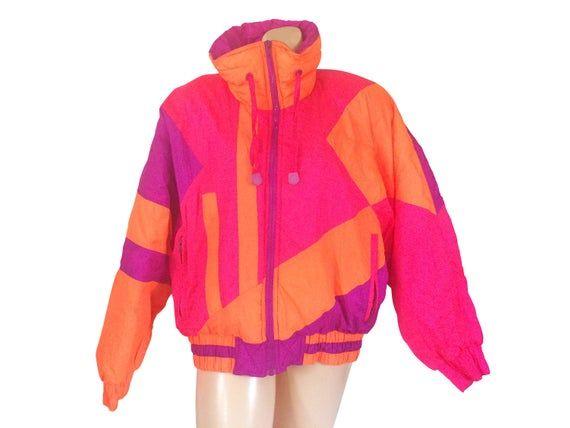 80s Ski Coat 80s Ski Jacket Neon Ski Jacket Retro Ski Jacket Etsy 80s Ski Jacket Winter Coats Women Ski Coat