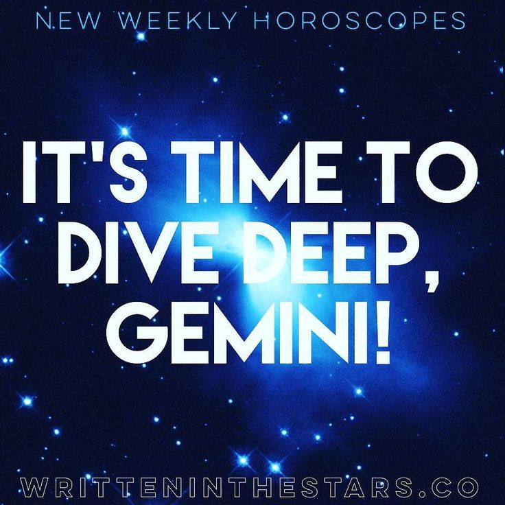 Here's your weekly #horoscope #Gemini!  Whats #writteninthestars for you? These #horoscopes are for #GeminiRising and #GeminiMoon as well! Enjoy!     GEMINI  Its time to dive deep Gemini. Your mind is immersed in the otherworldly this week Gemini with Mercury in your House of Secrets and The Past. Your imagination is activated in a way that can make some incredible magic  but only if you use it wisely! (I mean it will make magic either way but you want to brew up the good stuff.) This is an…
