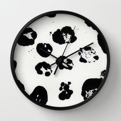Messy Dots Wall Clock by Alina Sevchenko - $30.00