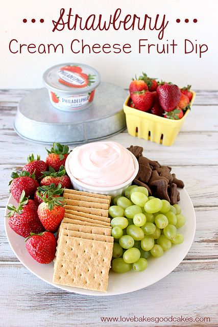 Strawberry Cream Cheese Fruit Dip #SpreadTheFlavor #CollectiveBias #shop by lovebakesgoodcakes, via Flickr
