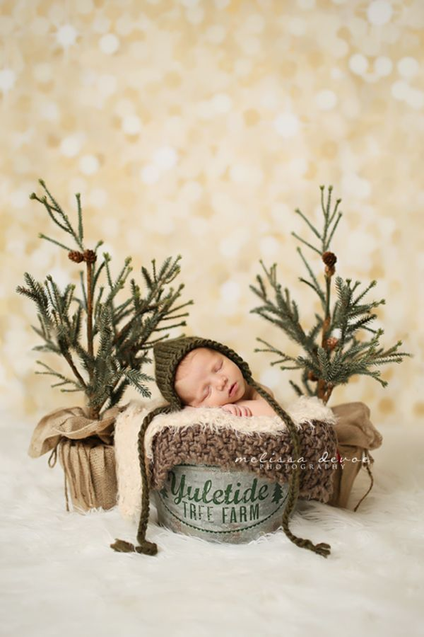 Baby Boy in Christmas set-up Melissa DeVoe Photography Raleigh Baby Photographer http://melissadevoephotography.com