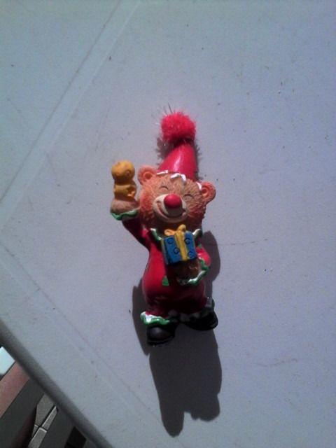 lot de 6 décoratios ourson clown en porcelaine : Autres pièces pour créations par 1001-plaisirs