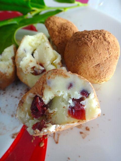 Cranberry Macadamia Truffles