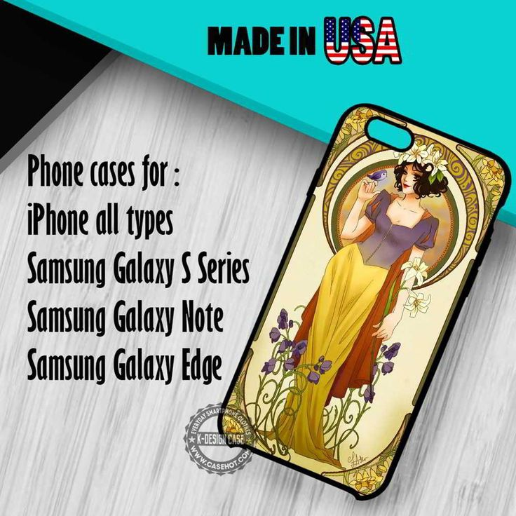 Alphonse Mucha Inspired Snow White iPhone 7 7  6s 6 SE Cases Samsung Galaxy S7 edge S6 S5  NOTE 7 5 4 3