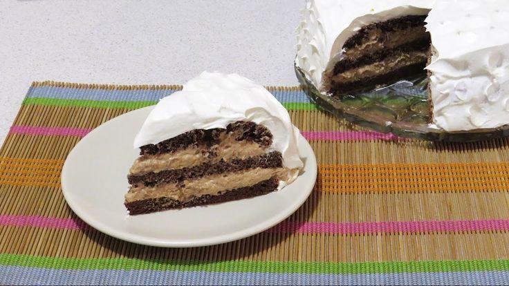 Tort cu Ciocolata in Doua Culori / Black and White Chocolate Cake!