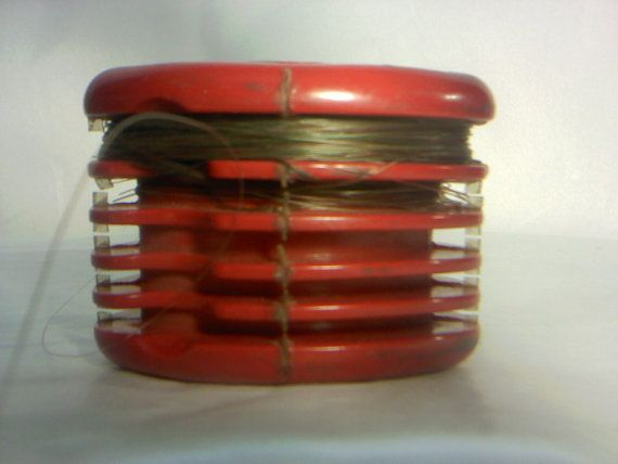 FREE SHIPPING old fishing tool fish line holder by DannahsDiggs, $24.95