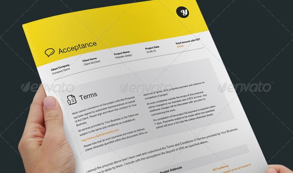 Professional Proposal and Invoice Templates Proposals and Template - website proposal template