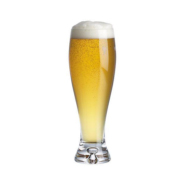 Direction 17 oz. Pilsner Beer Glass | Crate and Barrel