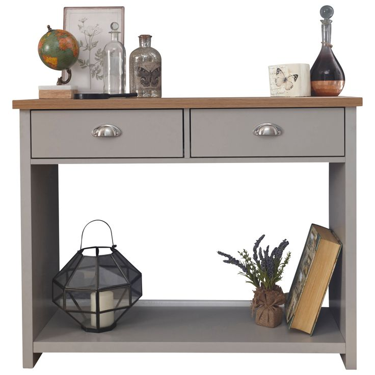 As functional as it is stylish, the Lancaster Console Hall Table works as both a table and storage unit. Featuring two cup-handled drawers and a slim design it can easily slip into the hallway or living room and is the perfect place to keep things you grab on the go.