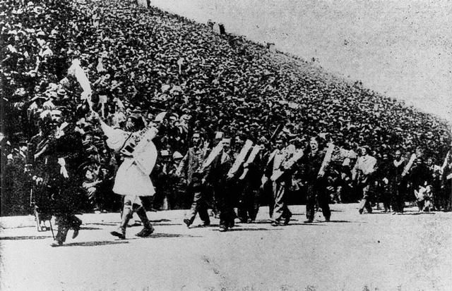 1896 Olympics Opening Ceremonies - note in suits