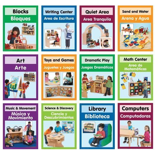 Becker's Bilingual Center Signs | Becker's School Supplies