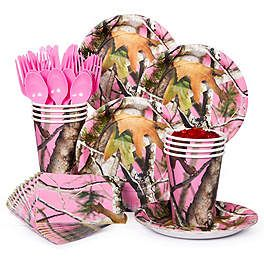 Girls Camo Birthday Party | Pink Camouflage Birthday Party Supplies, Decorations and Ideas