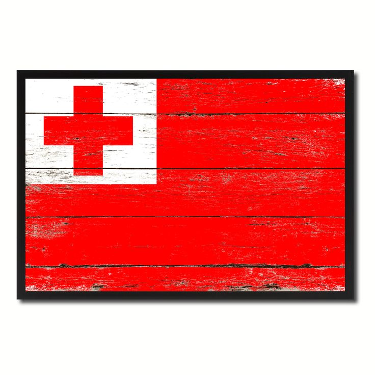 Tonga Country National Flag Vintage Canvas Print with Picture Frame Home Decor Wall Art Collection Gift Ideas