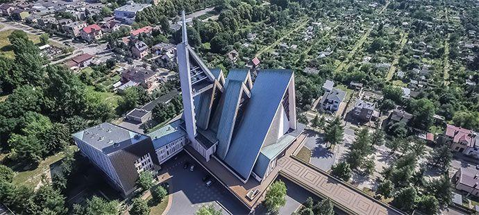 """Wystawa ,,Architektura VII dnia"""" , #architektura #kościoły #beczmiana"""