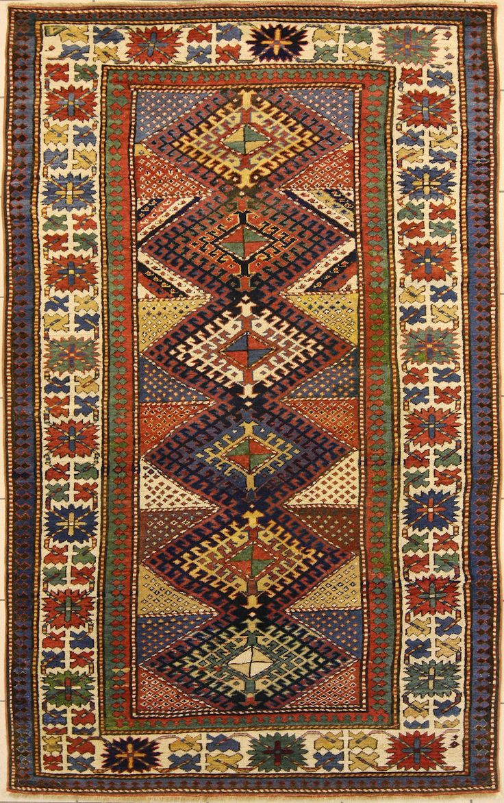 Cm 233 X123 Kazak Knotted In The Village Of Shulaver That