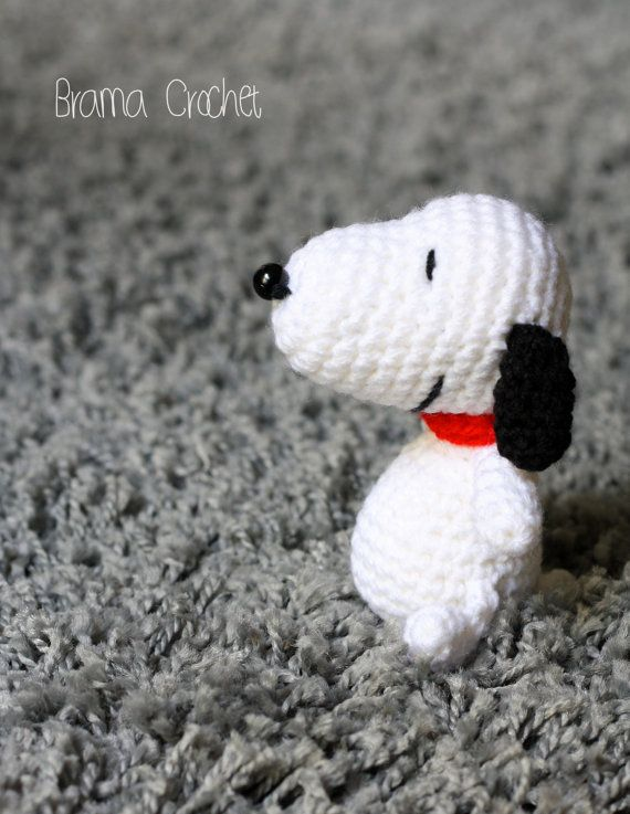 Snoopy Kawaii crochet amigurumi doll  Handmade Crochet toy