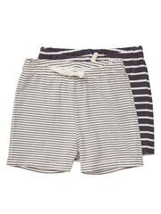Striped jersey shorts for the beach...