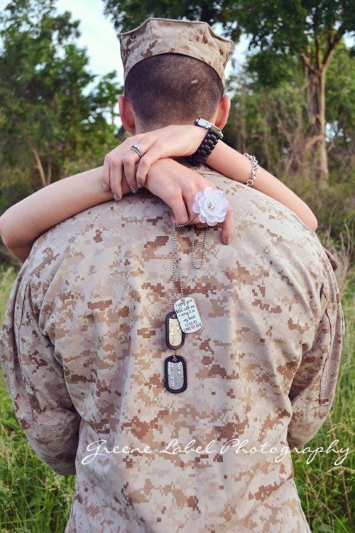 Military Couple Picture @Stephanie Close Close Pease