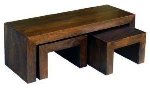 Mango Dakota Large 150cm Long John Coffee Table/ Nest Of 3 Tables | Wood Coffee  Tables, Coffee And Tables