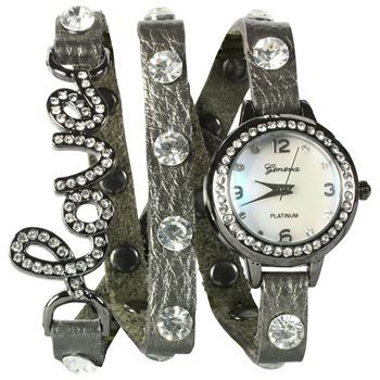 Shyanne® Women's Double Wrap Love Watch Bracelet at $29.99  http://www.bboescape.com/products/86/watches