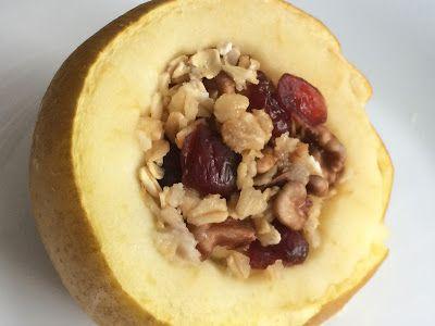 Kuchcik gotuje: Jabłko pieczone z płatkami owsianymi - http://przepisy-kulinarne-kuchcika.blogspot.com/