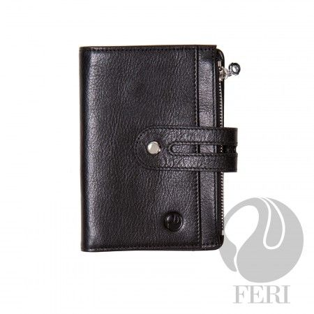 - Small brown wallet  - Made from high grade leather  - Single fold closure with snap  - 1 zippered slot  - 1 Transparent window for ID or photos  - 6 Credit card slots  - 1 Bill compartment  - 4 hidden compartments  - Lined with customized FERI lining  - Embossed with FERI Swan    Width: 11.5 cm  Height: 14.5 cm    Invest with confidence in FERI Designer Lines.    www.gwtgalleries.com/irmaroma           Shop this product here: spreesy.com/liveyourdream/16   Shop all of our products at…