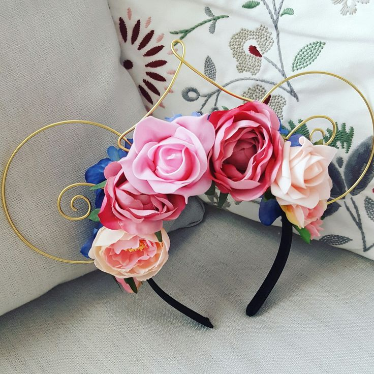 Custom Order Floral Mouse Ears by EarsByErin on Etsy