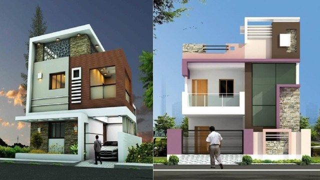 28 Top House Front Elevation Designs For Double Floor Single Floor House Front Elevation Ide Small house plan in kolkata