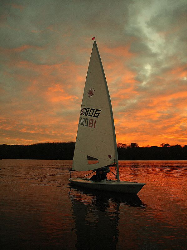 beautiful sunset  #sailboat