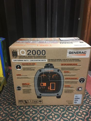 New Generac  iQ 2000 Portable Inverter Generator. 6866 Quite.