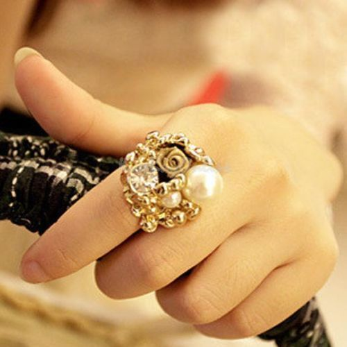 Fashion Imitation Pearl  Ring
