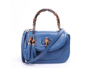 Gucci 256805 Bamboo Small Top Handle Bag - Blue  How nice and cheap! You deserve to own it! - A wonderful Gucci bags for a NEW YEAR GIFT!  Tag:Discount Authentic Gucci Shoulder Bags, Cheap Gucci Shoulder Bags New Arrival, Original Gucci Shoulder Bags outlet