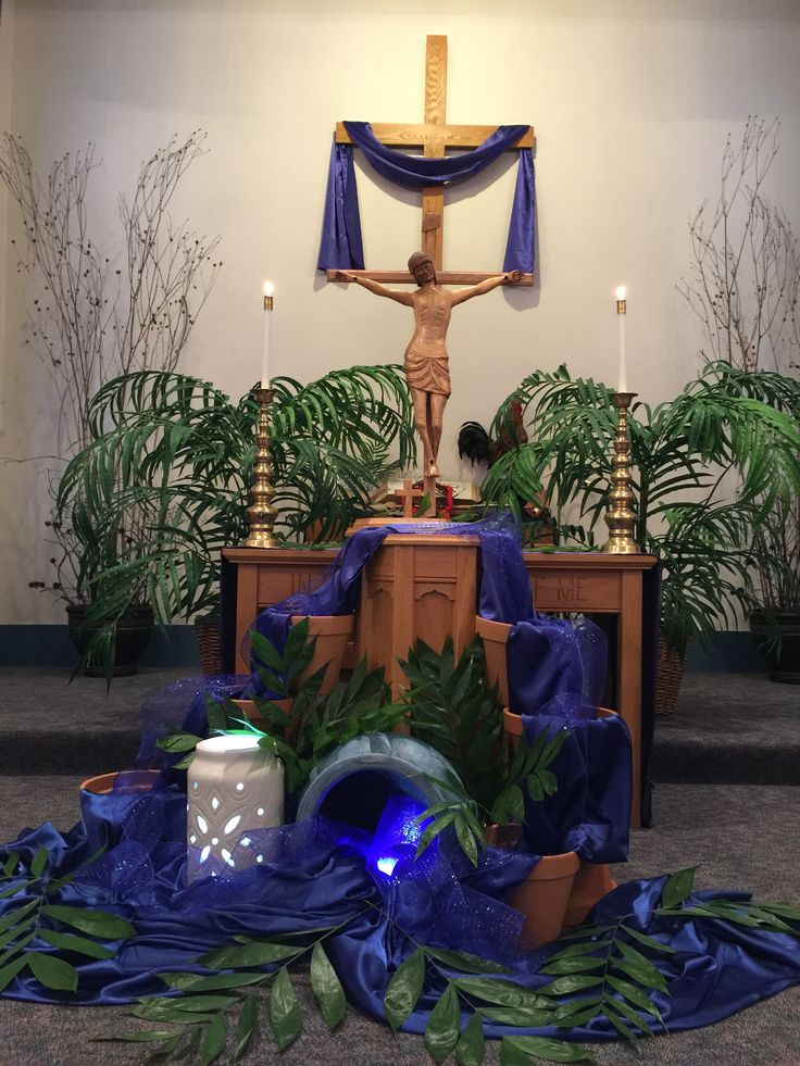 380 best images about creative christian altars on for Altar decoration