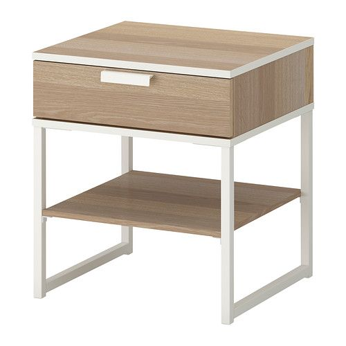 Trysil Bedside Table Dark Brown Black Products Tables