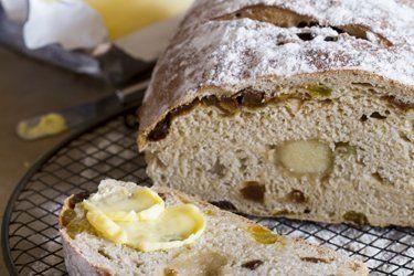 Fruit bread with hidden marzipan