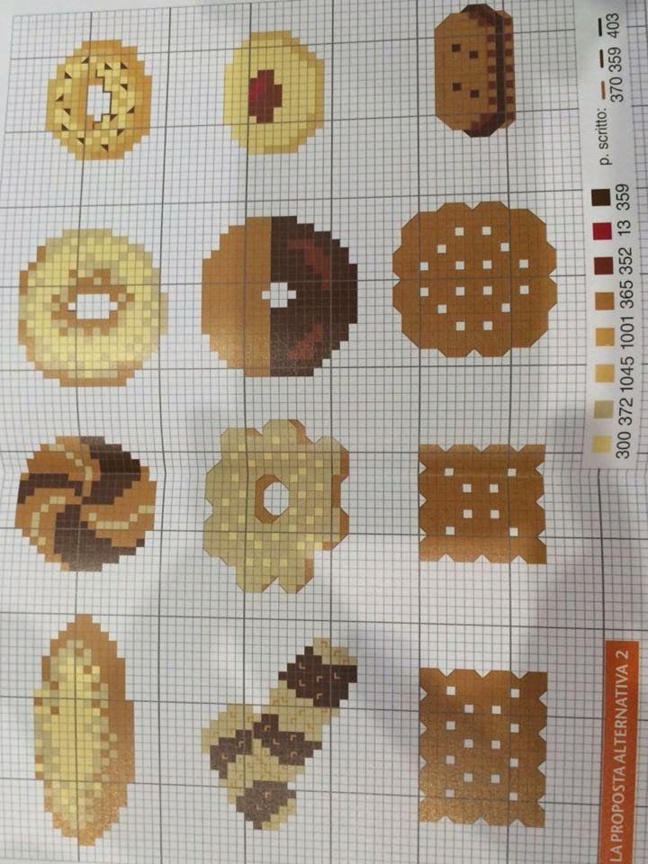 schema punto a croce biscotti   Hobby lavori femminili - ricamo - uncinetto - maglia