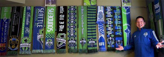 Soccer Scarfs And Hanging Scarves On Pinterest